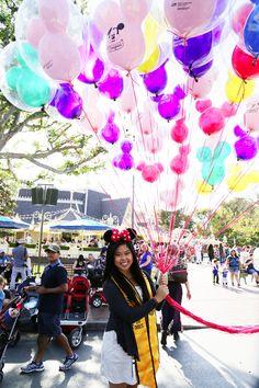 Vivian's graduation shoot at Disneyland