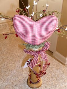 Valentine Heart bobbin arrangement