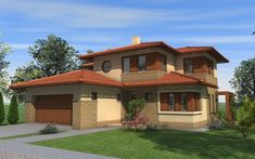 Emeletes családi ház 227 m2 | Családiházam.hu Design Case, Modern House Design, Kitchen Decor, Villa, Mansions, Architecture, House Styles, Outdoor, Home Decor