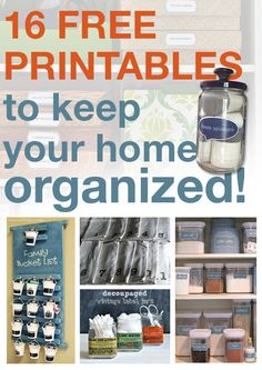 16 FREE printables to keep your home organized!