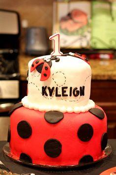 Ladybug Birthday Cake…so far in the running!