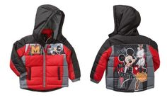 mickey mouse jacket winter coat puffer new size 4t 4 toddler boys $75 #disney from $39.95