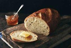 No-Knead Crusty White Bread   King Arthur Baking Hearth Bread Recipe, European Fashion, European Style, Italian Style, Peasant Bread, Thing 1, Whole Wheat Bread, King Arthur Flour, Instant Yeast