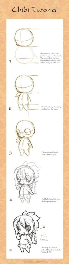Chibi Tutorial by ~eloel on deviantART