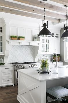 Kitchen Ceiling Beams Grey Kitchen Ceiling Beams Greywash Kitchen Ceiling Beams Kitchen Ceiling Beams kitchen features bleached ceiling beams Beams are rough cedar and then white/grey washed