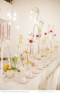 Love the tall stem flowers Flower Decorations, Wedding Decorations, Table Decorations, Decoration Inspiration, Wedding Inspiration, Wedding Ideas, Indoor Wedding Receptions, Wedding Table Centerpieces, Wedding Dressses