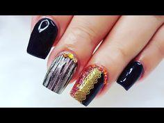 Nailart - Naildesign - Nails preto acrílico fácil e rápido / Uñas acrílicas Negras facil . Black Acrylic Nails, Black Acrylics, Black Nails, My Pet Dog, Piercings, Nailart, Nail Art Videos, Shadow Puppets, Foil Nails