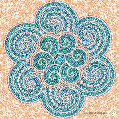 Spiral Dot Mandala Printable coloring page
