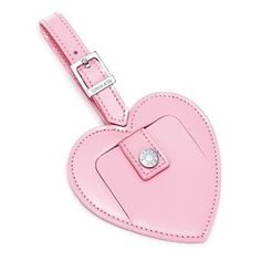 Pink Tiffany Heart Shaped Luggage Tag