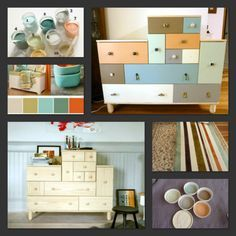 Ikea PS Hack - painting the chest of drawers all different colors