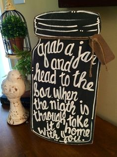 mason jar wedding sign - Google Search