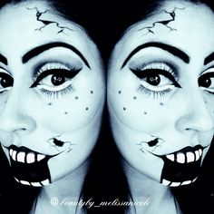 Day 16 of 31 Halloween makeup looks. Ventriloquist Doll optical illusions.