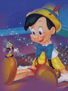 Pinocchio and Jiminy Cricket Film Disney, Disney Art, Disney Pixar, Disney Characters, Walt Disney Animation, Mickey Mouse, Disney Love, Disney Magic, Mundo Walt Disney