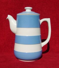 Vintage coffee pot ~ Cornishware