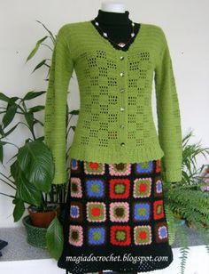Magia do Crochet: Saia e casaco em crochet