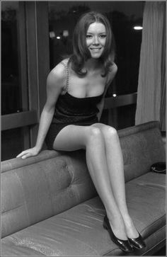 Diana Rigg who played Emma Peel in the Avengers. Very hot.