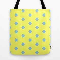 blue fleurette Tote Bag