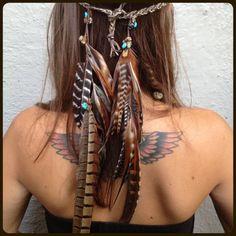 earthy, organic, native american, boho, tribal, bohemian, hippie.  Love her hair color