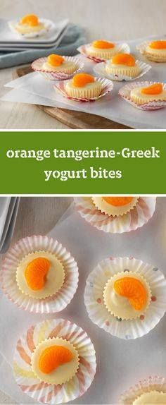 Orange Tangerine-Gre Orange Tangerine-Greek Yogurt Bites  Three...  Orange Tangerine-Gre Orange Tangerine-Greek Yogurt Bites  Three ingredients are all you need to put together these citrus treats. Try serving this creamy dessert recipe at your next party! Recipe : http://ift.tt/1hGiZgA And @ItsNutella  http://ift.tt/2v8iUYW