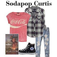Sodapop Curtis-The Outsiders by thefeels1456 on Polyvore featuring Rails, Abercrombie & Fitch and Converse