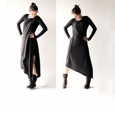 Womens dress, Cotton dress, Long dress, Tunic dress, Maxi dress, Boho dress, Day dress, Long sleeve dress, Womens clothing, Asymmetric