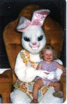 Creepy easter bunny photos.
