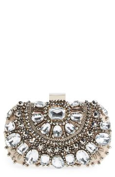 Lusting for this dazzling minaudière with sparkling crystals and beads.
