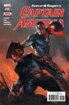 Captain America: Steve Rogers Only one man can lead Hydra into a new age of dominance and superiority! The Red Skull believes that he is that man! But Captain America thinks otherwise…it's a no-holds-barred final throwdown that you will not believe! Arte Dc Comics, Marvel Comics Art, Marvel Heroes, Marvel Avengers, Secret Avengers, Spiderman Marvel, Marvel Captain America, Capitan America Marvel, Red Skull Captain America