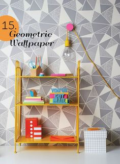 25 Genius Ideas for Spring - Geometric Wallpaper by Andrew Boyd