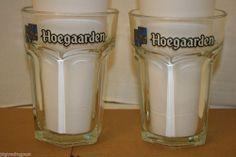 Super RARE Set of 2 Hoegaarden Belgium White Ale Jumbo Huge Large Beer Mug Glasses 1 Liter