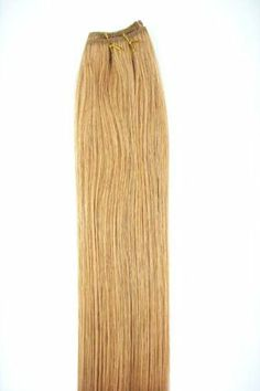 """22"""" Long One 12"""" Wide Weft Piece Track 100% Human Hair Extension for Glue or Sew in Weave #27 Dark Blonde Strawberry Tint by MyLuxury1st. $34.99. SHIPS IN 6-10 BUSINESS DAYS! IF YOU CAN NOT WAIT; DO NOT ORDER; QUESTIONS? CONTACT MYLUXURY1ST HAIR EXTENSIONS"""