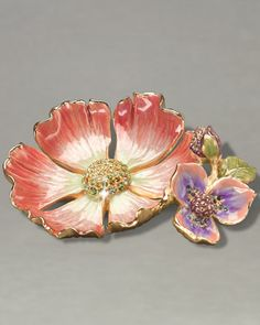 Maya Flower Trinket Tray by Jay Strongwater at Neiman Marcus.