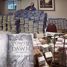 """(@therealsjmaas) on Instagram: """"7.5 hours later and the signed Tower of Dawn preorders for @gcreading are finished!! These photos…"""""""