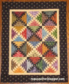 rogue quilter - Mini Pineapple Quilt