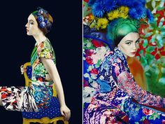 Mary Katrantzou has once again joined forces with photographerErik Magidan Heckwith a series of dreamlike images highlighting pieces from her spring and fall collections
