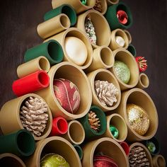 PVC Pipe Christmas Tree Wall Hanging