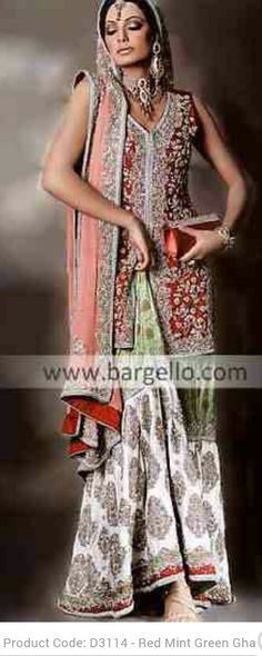 Love it! Gharara Bridal Dress