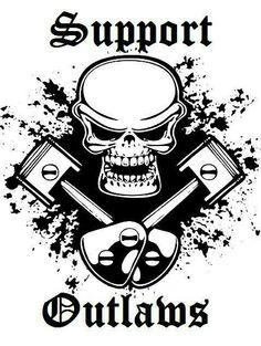 Outlaws Motorcycle Club, Chopper Motorcycle, Bobber Chopper, Biker Clubs, Motorcycle Clubs, Skull Wallpaper, Hells Angels, Biker T Shirts, Biker Girl