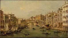 Venice: The Rialto. Workshop of Francesco Guardi. Gallery 541