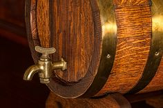 Ever wonder where sour beer originated, how it's brewed, or how to properly store and serve it? Check out this post to learn everything you need to know about sour beer. Whisky, The Iron Bull, Brass Tap, Wood Images, Bourbon Barrel, Bar Accessories, How To Make Homemade, Beer Lovers, Cool Bars