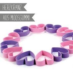 Moosgummi-Herzkranz