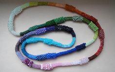 Rainbow necklace -by Margele (?) Romania