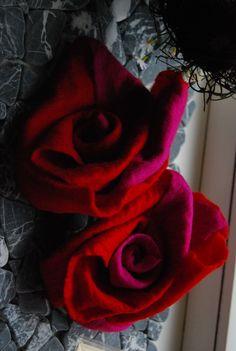 Filzrosen... Ursula Pauly felt roses handmade
