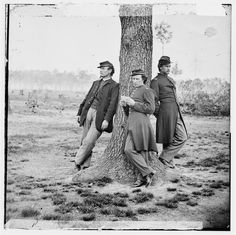 Three officers of the 1st Connecticut Heavy Artillery, Fort Brady, VA. (Library of Congress Prints and Photographs Division).  Submitted by thathistorychick