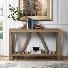 A-Frame Rustic 52 Oak Console Table Rattan Furniture, Cool Furniture, Furniture Outlet, Online Furniture, Furniture Ideas, Furniture Removal, Discount Furniture, Living Room Designs, Living Room Decor