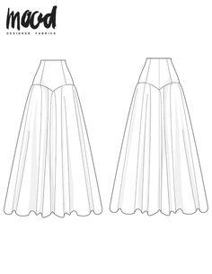 The Cunilla Skirt - Free Sewing Pattern - Mood Sewciety Skirt Patterns Sewing, Free Sewing, Vintage Sewing Patterns, Clothing Patterns, Pattern Skirt, Skirt Sewing, Coat Patterns, Blouse Patterns, Wedding Dress Sewing Patterns