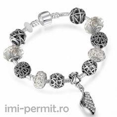 Bratara tip Pandora, suflata cu Argint
