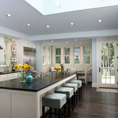 White Cream Light Blue Kitchen Design Ideas, Pictures, Remodel, and Decor - page 4