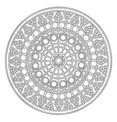 Mandalas Para Pintar: Mandala catalán I