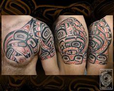 Haida Designs | polynesian tattoo and art: haida shoulder and chest #samoantattooschest